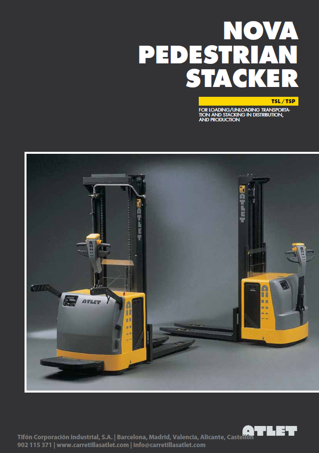 portada Apilador Atlet-trucks-Nova-TSL-TSP-Stand-on-pedestrian-stacker_Tifon